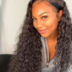 Curly Killer💋Thriving Hair Pre-Plucked Water Curly Virgin Human Hair Full Lace Wigs With Soft Baby Hairs Curly Hair Styles, Natural Hair Styles, Brazilian Curly Hair, 100 Human Hair Wigs, Lace Front Wigs, Lace Wigs, Weave Hairstyles, Frontal Hairstyles, Long Hairstyles