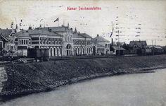 Hamar jernbanestasjon Hedmark fylke stp 1913 Foto: Normanns kunsrforlag