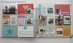 A Project Life® spread using Lawn Fawn goodies!   www.one-happy-mama.com