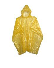 Emergency Yellow Rain Ponchos - Lightweight & Disposable Case of 200…