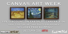 Get a 15% discount on FastPlot canvas!