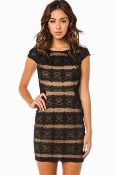 ShopSosie Style : Danica Dress in Black