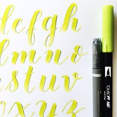 Brush Lettering Alphabet with the Tombow Dual Brush and Fude Twin Tip