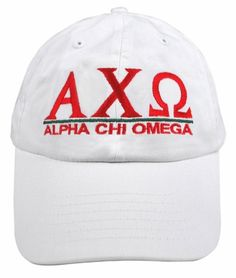 Alpha Chi Omega World Famous Line Hat - MADE FAST! SALE $19.95. - Greek Clothing and Merchandise - Greek Gear®