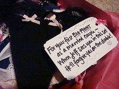 """the panty poem"" bridal shower gift"