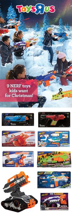 """What a blast! With so many blasters and accessories to choose from, like the N-Strike Mega Mastodon and Rival Khaos MXVI 4000 in our NERF Shop, it's no wonder we're the destination for NERF Nation! And remember, if you're looking for the super hot N-Strike Elite Terrascout RC Drone or super cool Alien Menace collection, they're only at Toys """"R""""Us!"""