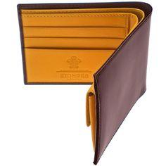 Ettinger London Luxury Leather Bridle Hide Nut Billfold Wallet with 3 C/C & Purse