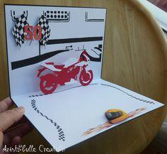 Carte auto-moto by Aristobulle Kirigami, Pop Up, Envelope, Table, Cards, Diy, Comics, Ideas, Motorbikes
