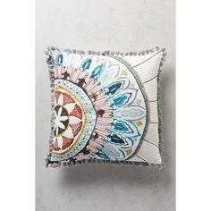 Anthropologie Seraphita Pillow ($88) via Polyvore featuring home, home decor, throw pillows, multi, anthropologie home decor, embroidered throw pillows and anthropologie