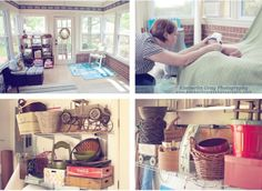 Give me a sense of what my studio will look like if/when we get the sunroom renovated.  Beautiful Photo Props: Behind the Scenes: The Newborn Photography Studio