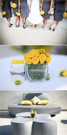 Yellow  Gray Wedding    LOVE LOVE LOVE LOVE LOVE!