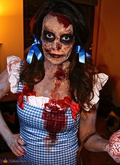 Zombie Dorothy and Scarecrow - Homemade costumes for couples