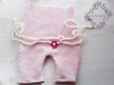 Newborn Photo Prop Upcycled Baby Romper Baby by ZucchiniIsland, $35.00