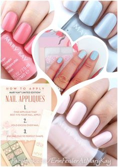 Get yo nails right ;) simple and sweet for spring from #MARYKAY www.facebook.com/ErinFeislerAtMaryKay