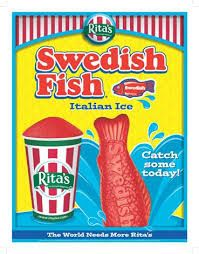 Swedish Fish were made in 1960 by the company Malaco. The recipe is a traditional Norwegian holiday confection. Originally red, they have also made orange, purple, and lemon-lime.