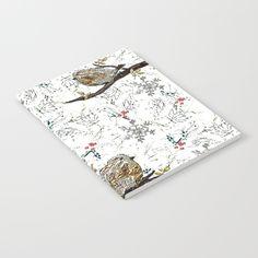 Birds of hope Notebook by Bozena Wojtaszek   Society6