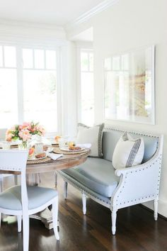 Sofas & details making their debut at the dining table