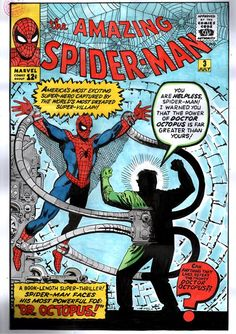 AMAZING SPIDER-MAN Published: July 1963 Added to Marvel Unlimited: November 2007 Penciller: Steve Ditko Cover Artist: Steve Ditko Witness the birth of one of Spider-Man's greatest Spiderman Comic Books, Old Comic Books, Comic Book Artists, Comic Book Covers, Comic Book Characters, Comic Character, Spiderman Art, Amazing Spider Man Comic, Dr Octopus