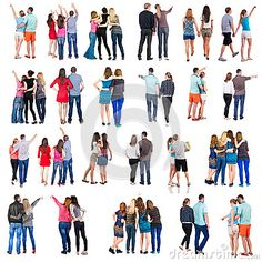 Collection  Back View Of Group People. Set  - Download From Over 38 Million High Quality Stock Photos, Images, Vectors. Sign up for FREE today. Image: 49576092