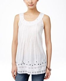 Style & Co. Floral Pleated Top, Only at Macy's