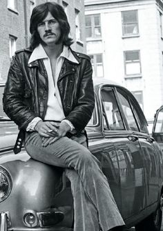 John Bonham of Led Zeppelin Is he sitting on his Jensen?