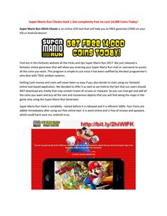 Super mario run coins cheats