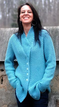 Love this cardigan. Love that I'll be able to make the sleeves to actually fit my arms.