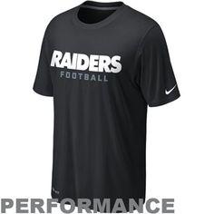 Fanatics Nike Oakland Raiders Legend Authentic Football Font Performance  T-Shirt - Black Buffalo e670b8506cb