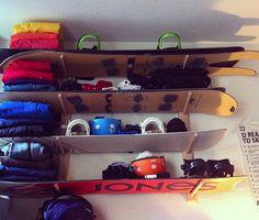 #snowboard home storage rack