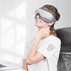 Naipo Wireless Eye Massager Portable Eye Mask with Compression, Vibration, Heating and 3 Modes for Dry Eye Relax Vision Care Eyestrain Stress Relief Back Massager, Stress Relief, Personal Care, Jewelry Photography, Eye, Amazon, Health, Gift Guide, Music