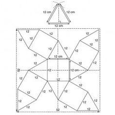 schéma à plat d'une boîte polygonale