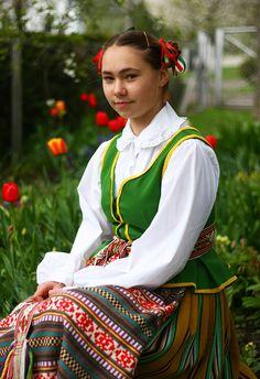 Lithuanian girl in national dress