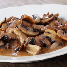 A great comfort food, this beef and mushroom stroganoff is the perfect meal for a cozy evening at home.