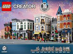 Help us celebrate 10 amazing years of LEGO Modular Buildings by sharing your own mini model of your own modular building in this contest specially designed for LEGO fans. Lego For Kids, All Lego, Lego Creator Sets, Lego Furniture, Lego Room, Futuristic City, Lego Modular, Lego Minecraft, Lego News