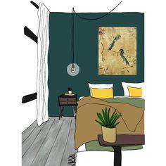 Histor kleur van het jaar Quiet Clearing. Een mooie groene kleur in een warm interieur. Interior Paint Colors, Pantone, Pastels, Projects, Colour, Bedroom, Home, Log Projects, Color