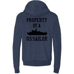 Navy Girlfriend Sweatshirt - Property of a US Sailor sweatshirt for all those Navy girlfriends out there :)