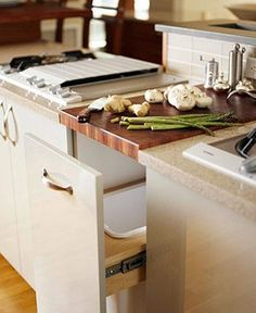 Superieur Integrated Butcher Block Cutting Board From BHu0026G Via Atticmag