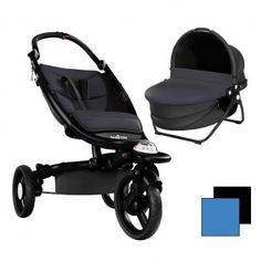 Recaro Babyzen 2in1 (Stroller Black Frame + Yoga Carrycot) - Black/Blue