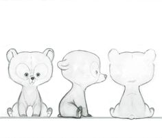 Brave Concept Art ✤ || @Michael Aitken Bush This is a good reference for drawing the little brothers in bear form :)