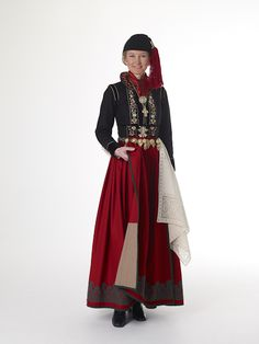 """I love this one.  I want mine somewhat like that. Skirt either red=madder, blue=indigo/woad or green=weld+indigo. Matching """"skúfur"""" Black jacket, white linen lace (orkerað/kliplað), with colorful embroidery (silk natural dyed). Maybe a different colored apron. Upphlutur - with embroidery, but don't know the colour yet. Undershirt and underskirts white linen. Skófaldur köflóttur eða röndóttur."""