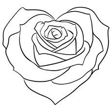 How to Draw a Pretty Heart, Step by Step, Tattoos, Pop Culture, FREE Online Drawing Tutorial Rose Coloring Pages, Printable Coloring Pages, Coloring Pages For Kids, Coloring Books, Coloring Sheets, Rosa Stencil, Cute Heart Drawings, Online Drawing, Tattoo Stencils