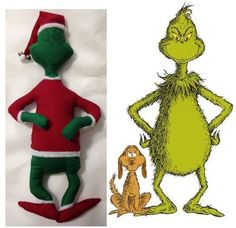 It's pretty easy to make your own pattern for stuffed animals. Check out this example of how to make a Grinch stuffed animal.