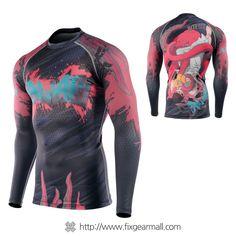 Fixgearmall - #FIXGEAR #Compression Base Layer Long Sleeve #Shirts, model no CFL-H5P, Skin Tights and Advanced Performance Fabric. ( #AeroFIX ) #Rashguard #Workout #Fitness #Crossfit #Training #MMA #Jujitsu #yoga