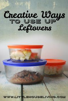 Lots of great creative ways to use up leftovers so nothing goes to waste! Save this article for later.