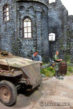 Ruined monastery 1/35 Scale Model Diorama