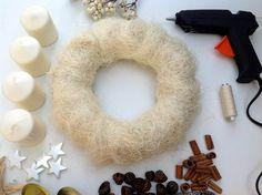 Csináld magad: adventi koszorú Advent, Crochet Earrings, Shabby Chic, Christmas, Xmas, Navidad, Noel, Natal, Kerst