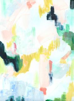 Abstract print of pastel meadow by Melanie Severin