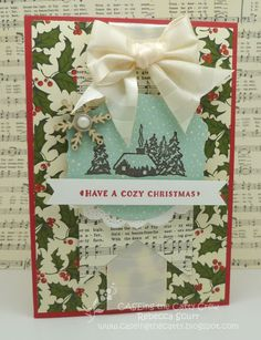 CTC48 - Caseing the Catty Design Team - Home for Christmas DSP, Cozy Christmas stamp set - Rebecca Scurr - Independent Stampin' Up! demonstrator - www.facebook.com/thepaperandstampaddict