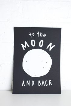 Crushes Moon and Back print - Bread and Butter Letter (K Road or online), A5 - $18 or A4 - $28