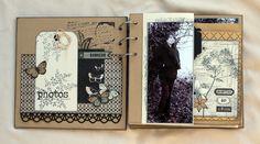 "Album""Un jour, une histoire"" de SCRAPUCINE: joli travail de tamponnage... http://scrapucine.over-blog.fr/2015/01/album-un-jour-une-histoire.html"